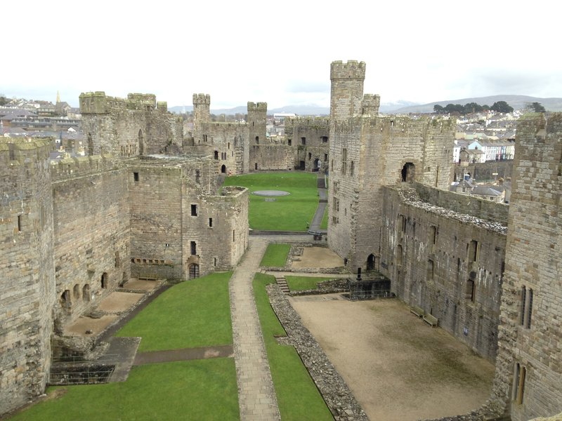 Caenarfon Castle from the inside