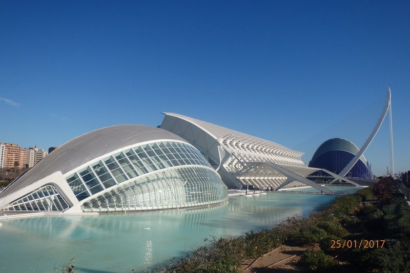 The architecture in Valencia
