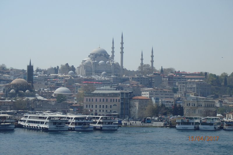 Walking the streets of Istanbul - some Mosques are bigger than others!
