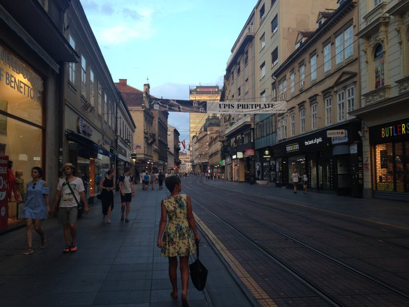 The inner city streets of Zagreb