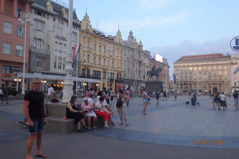 The centre of Zagreb - Ban Jelačić Square