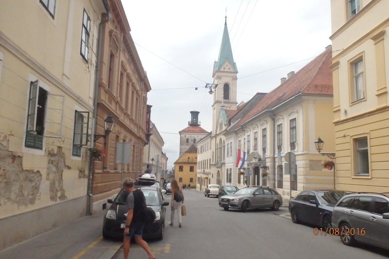 The streets, buildings and parks of Zagreb