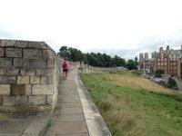 On the wall around York
