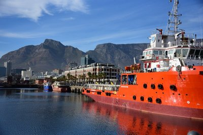 View of Cape Grace and Table Mountain from the V & A