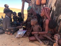 Young Himba ladies with their babies