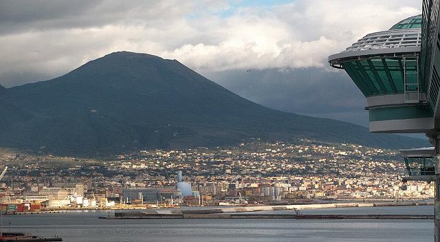 Vesuvius from ships balcony.