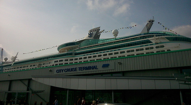 Adventure berthed at City Terminal