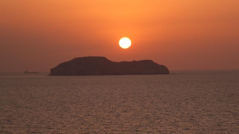 Sunset over the Arabian Gulf