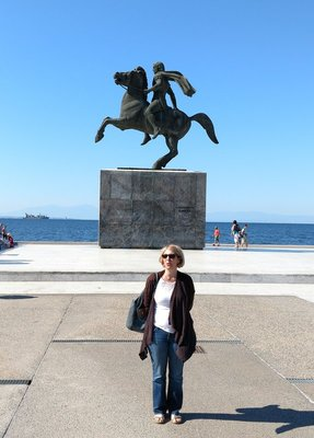 Alexander The Great statue on the Thessaloniki waterfront.
