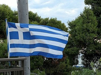 Greek flag - Nea Michionia.