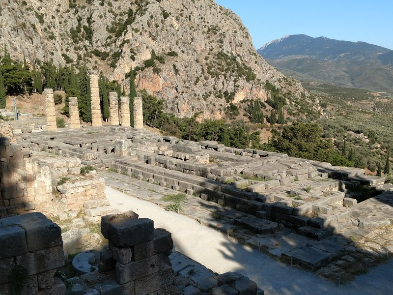 Temple of Apollo and home of the Oracle.