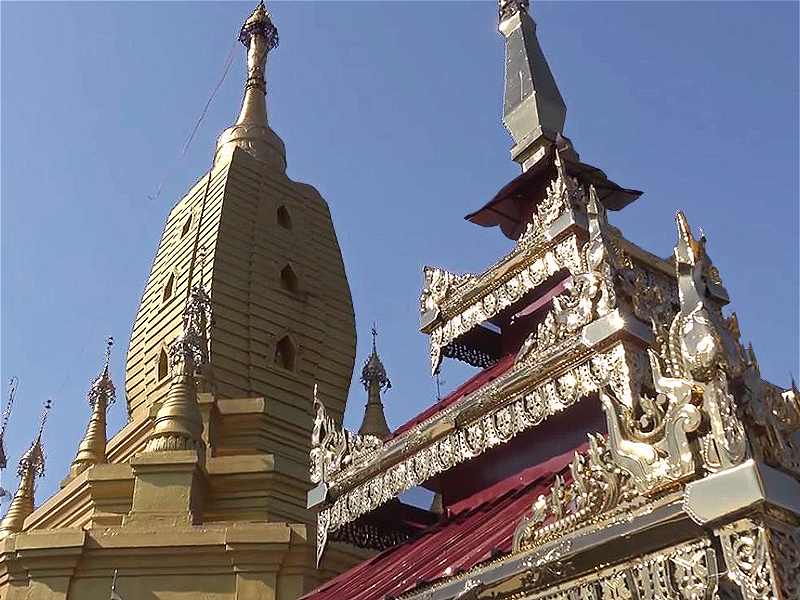 Taung Kalat Temple Roofs