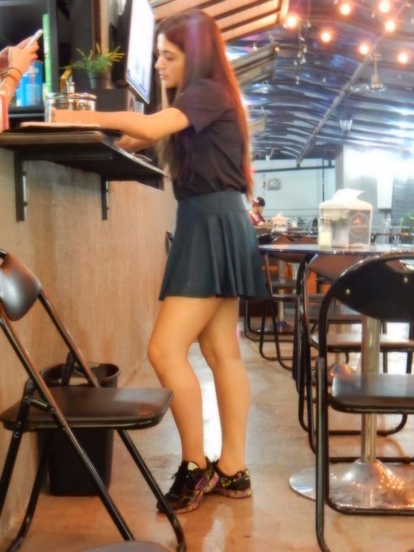 cute waitress