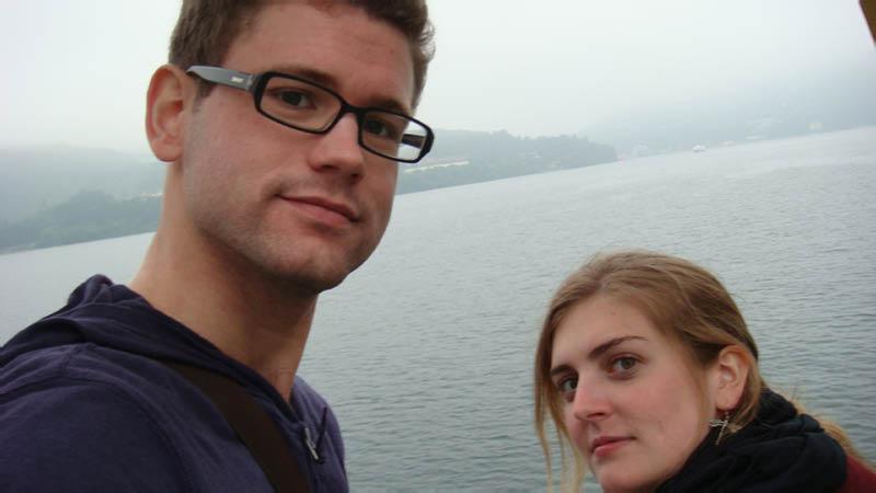 Hakone - Matt and I on the pirate ship