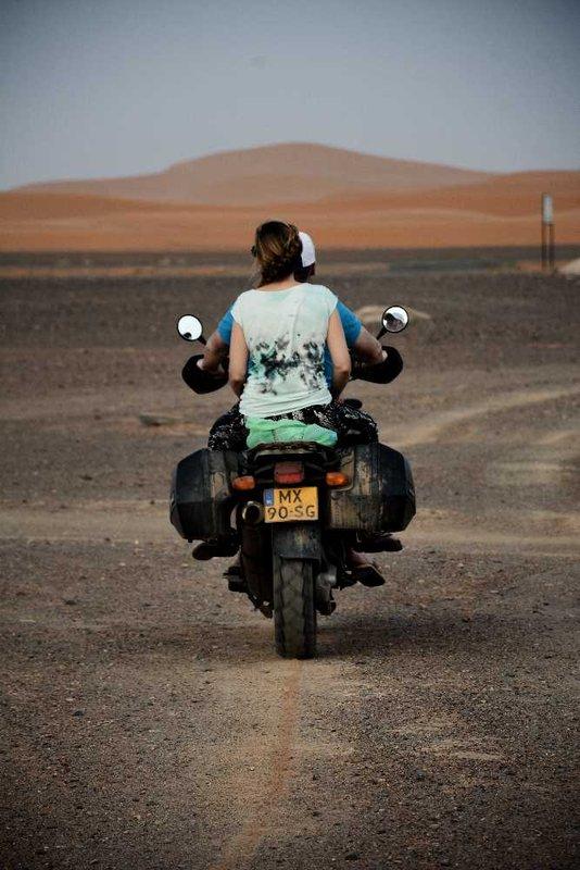 Riding towards the dunes