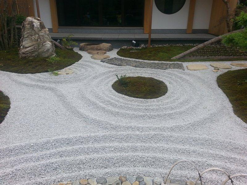 Zen garden at Hase Dera