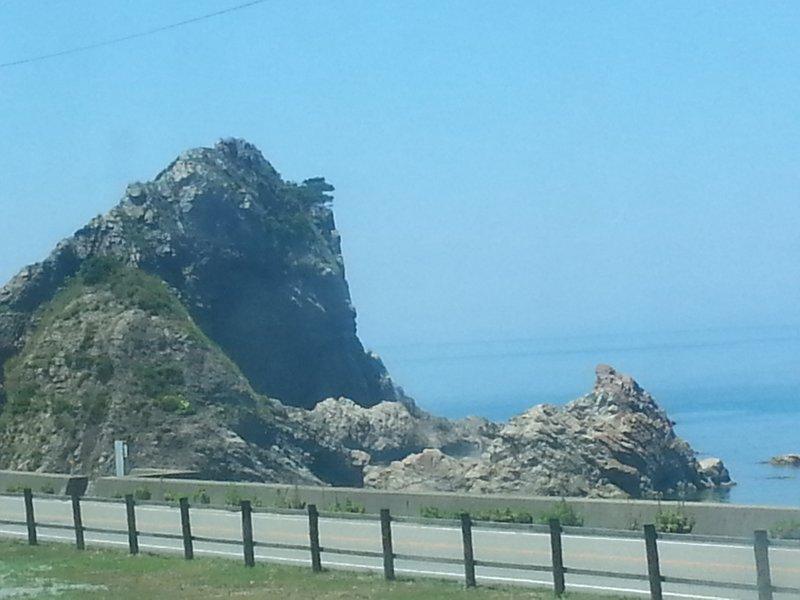 Rocky coastline between Akita and Niigata