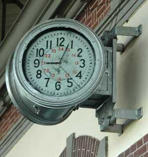 The clock - Train Museum in Ambarawa