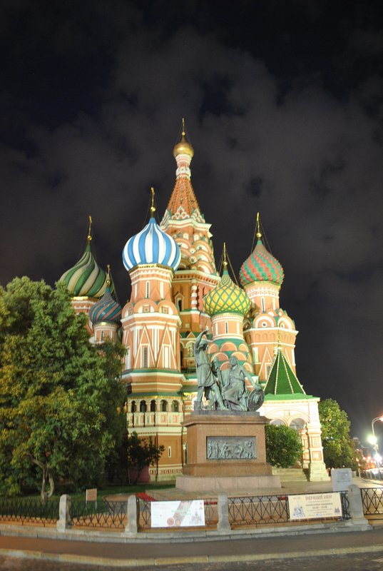 St Basil's Cathedral, Red Square at night