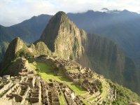 Machu Picchu, as the sun is rising