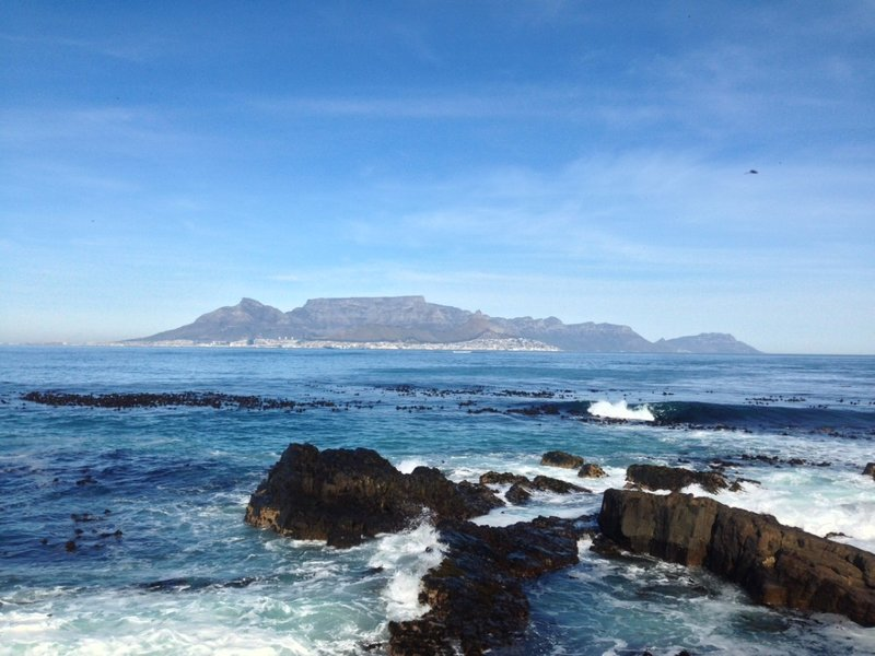 View of Table Mountain from Robben Island, taken by Mack Prioleau