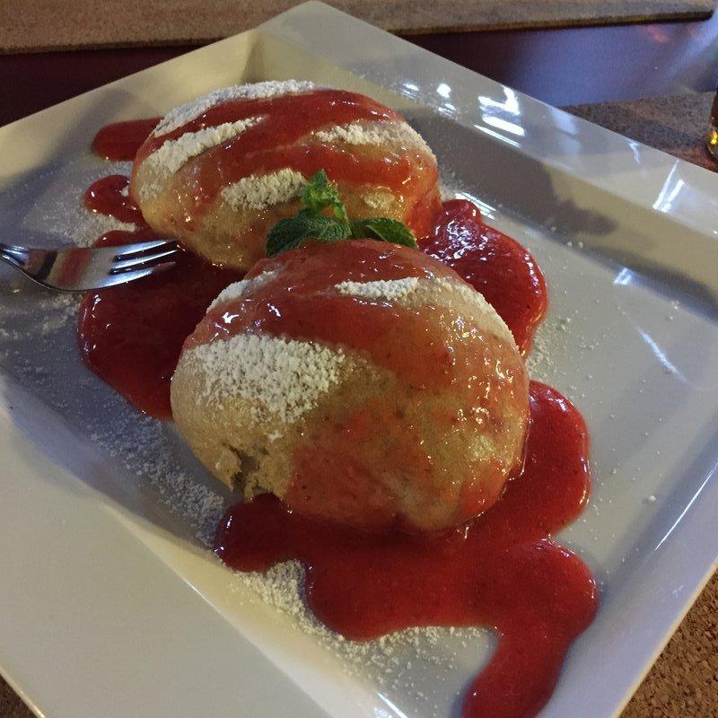 LoVeg Homemade fruit breaded dumplings