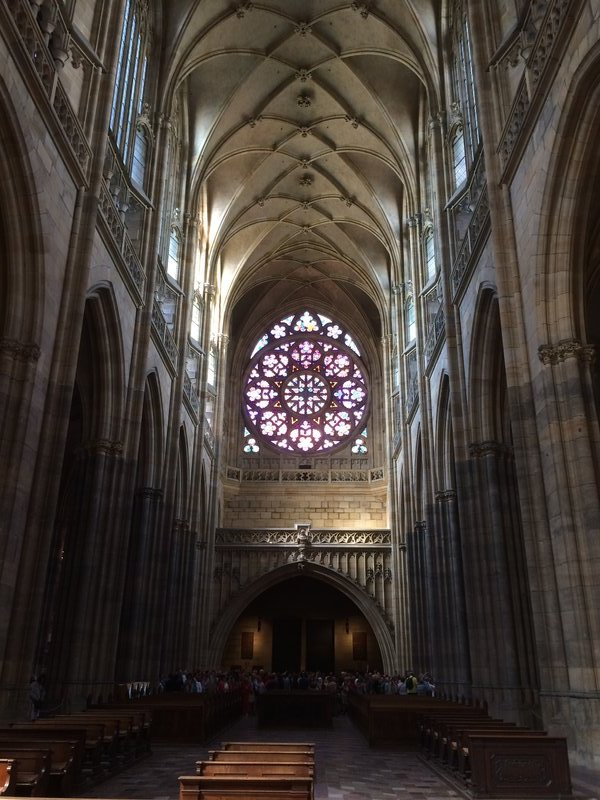 St Vitus Cathedral stained glass window