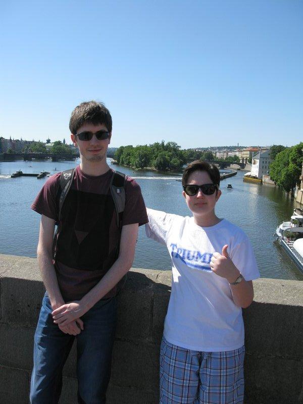 Children on Charles Bridge