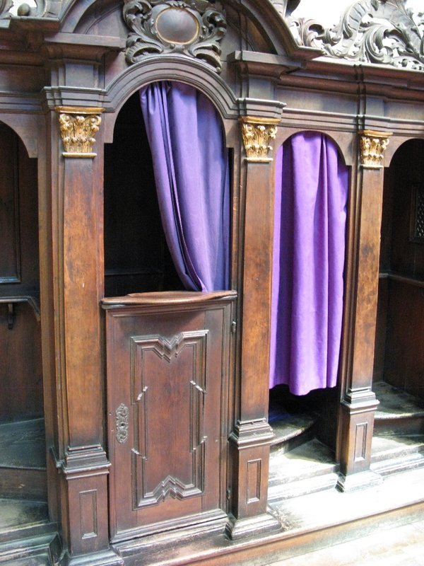 St Vitus Cathedral confession booth