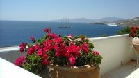 view towards new port at mykonos