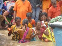 Bade Ritual im Ganges