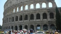 Outside view of the Colosseum