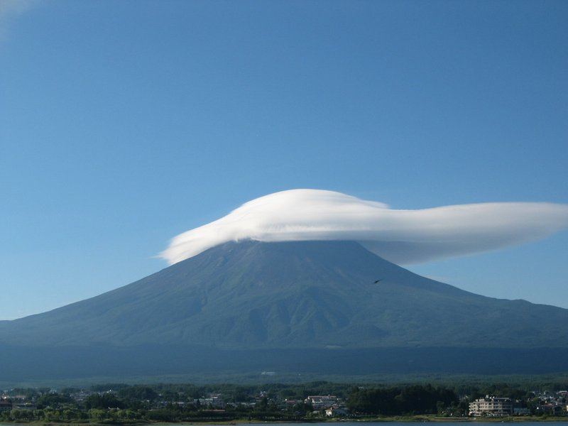 Mt. Fuji with a baseball cap