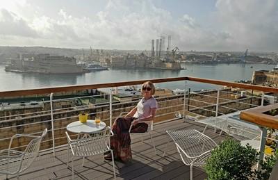 M - rooftop breakfast Valletta