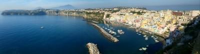 Procida Marina Corricella aerial view