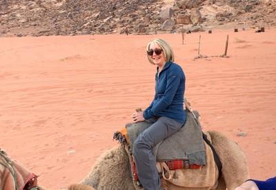 Sue camel ride2
