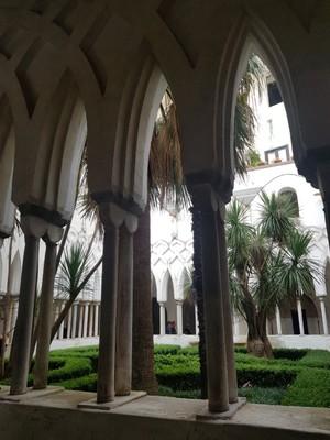 Amalfi cathedral garden cloister