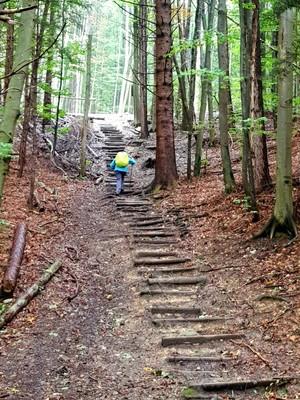 Steep climb to Rottenbuch