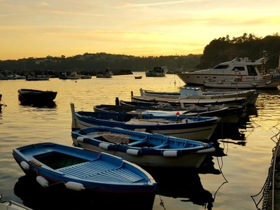 Boat harbour Marina Corricella Procida