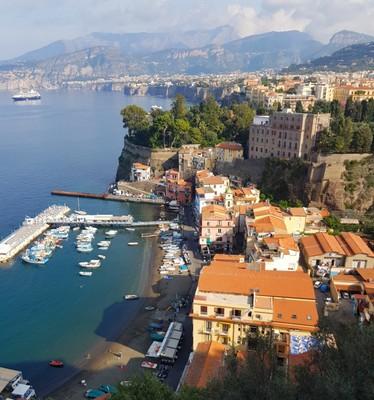 Aerial Marina Grande & Sorrento