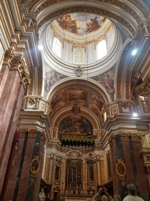 M- St Pauls Cathedral -inside Malta