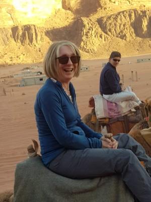 J-Sue camel ride