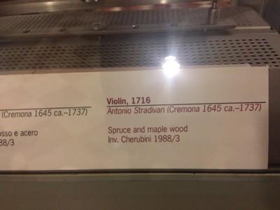 Description 18th century Stradivari violin