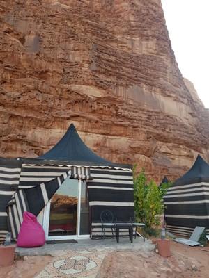 J-Wadi Rum Glamping outside tent