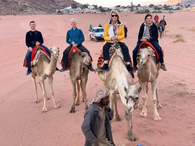Group camel ride