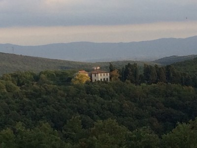 View from Tuscan villa