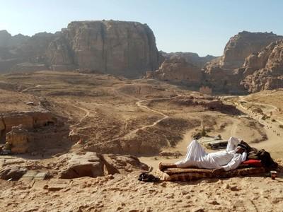 J- Petra relaxed Bedouin
