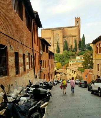 Heading to restaurant Siena
