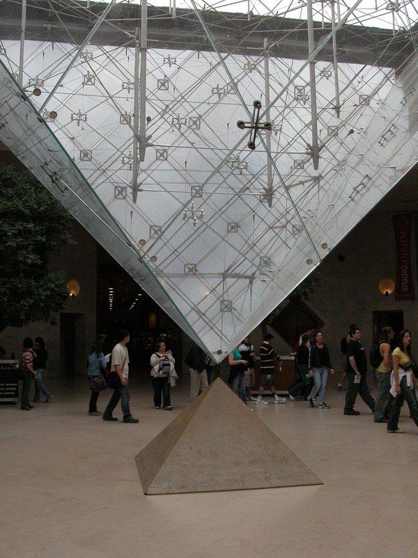 Where the pyramids meet - Louvre, Paris