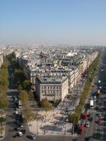 Looking down on Paris streets